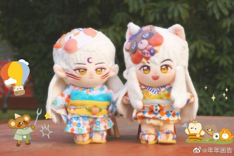 20 cm Inuyasha and Sesshomaru Dolls