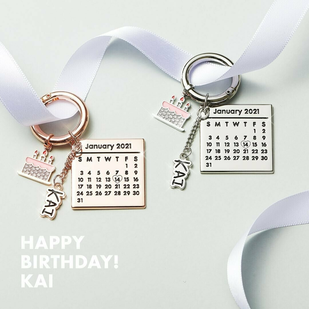 EXO KAI's Official Calendar Birthday Keyrings