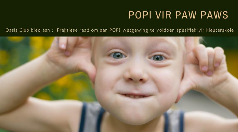 POPI act opleiding vir kleuterskole