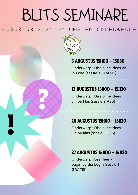 Blits seminare Augustus 2021