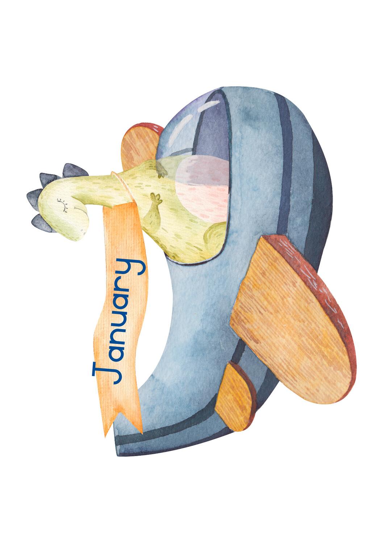 Dinosourus verjaarsdagkaart