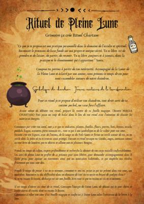 Rituel lunaire Chartam & Recette Magia Chartam