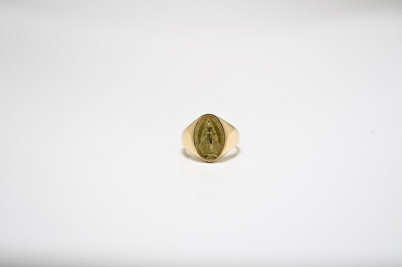 Chevalière Miraculeuse Or jaune 18 carats