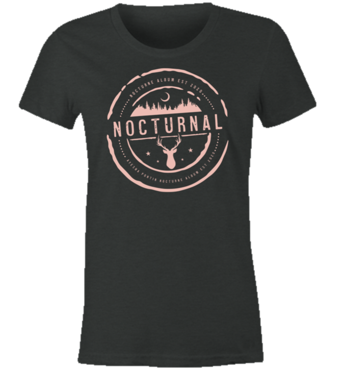 NOCTURNE Album Official Merch: Women's Soft Style Tee Shirt XL