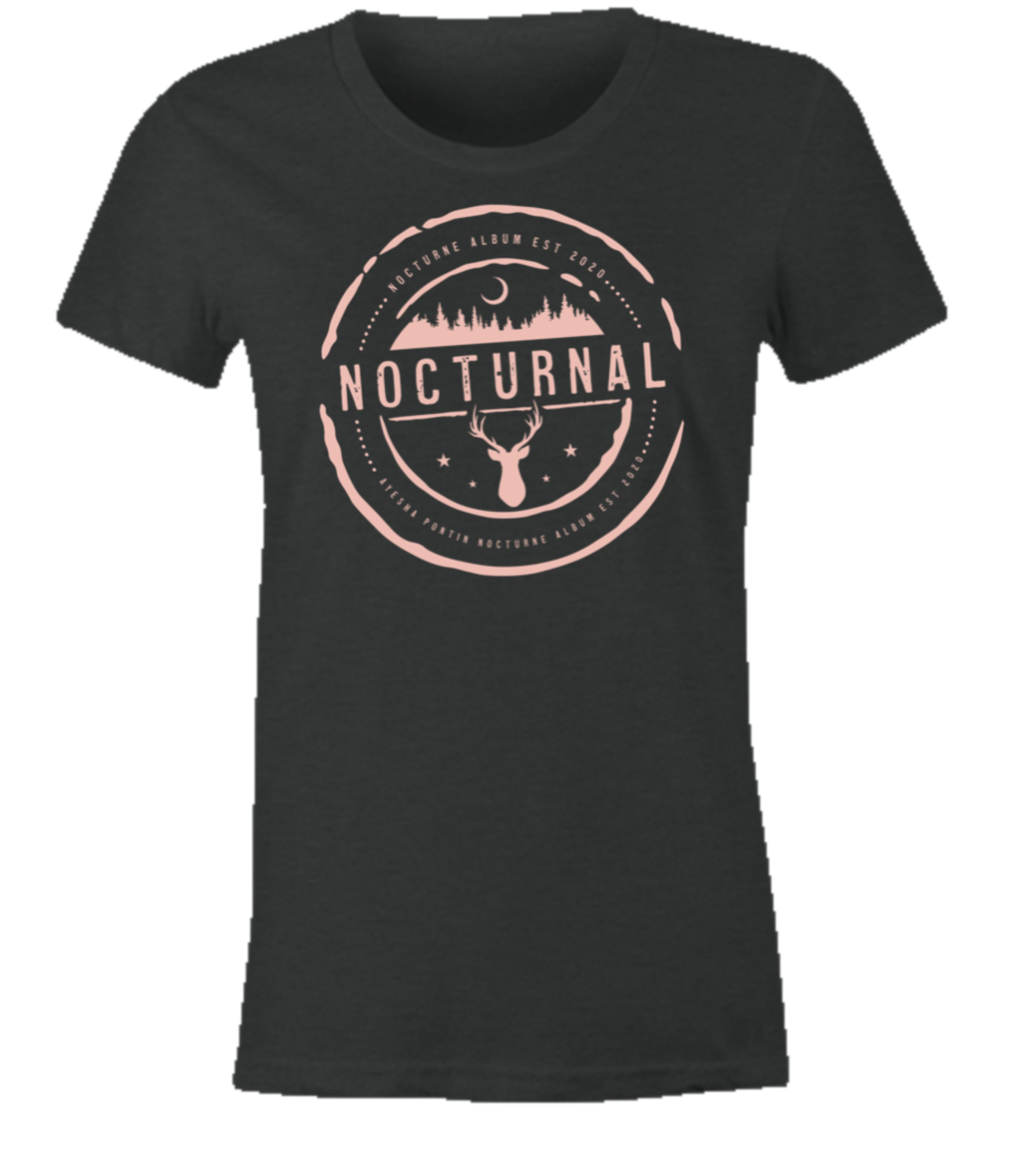 NOCTURNE Album Official Merch: Women's Soft Style Tee Shirt L
