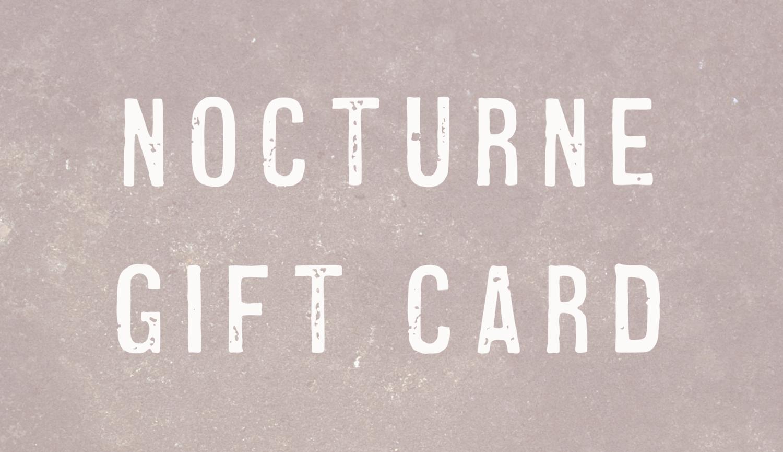 Official Nocturne Album Merch Gift Card