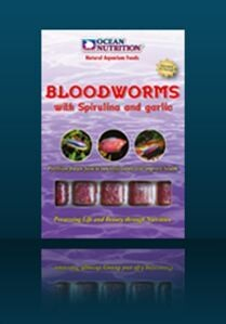 Ocean Nutrition Frozen Bloodworms with Spirulina and garlic
