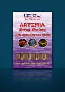 Ocean Nutrition Frozen Artemia / Brine Shrimp with Spirulina and garlic