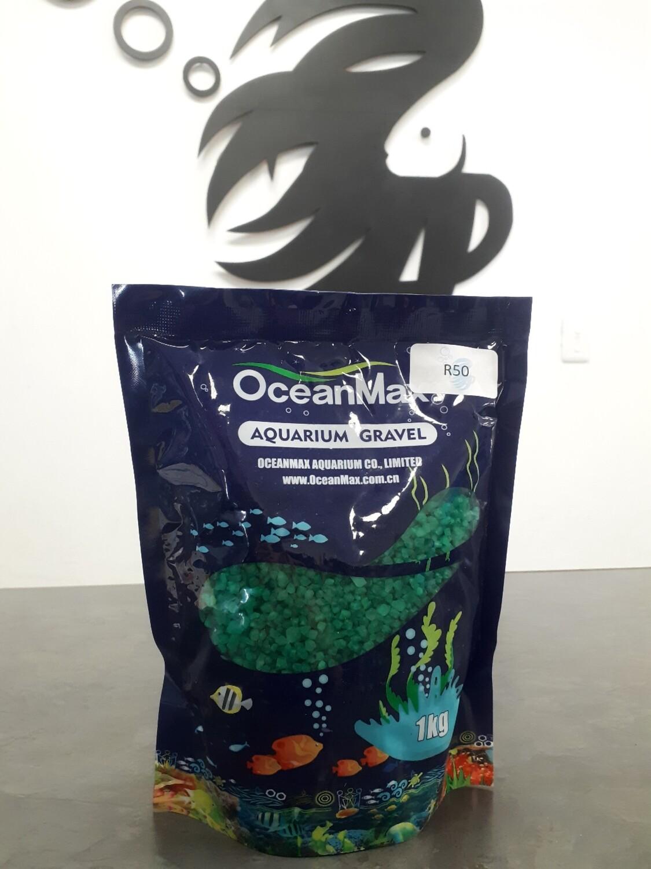 Green Aquarium Gravel (1kg)