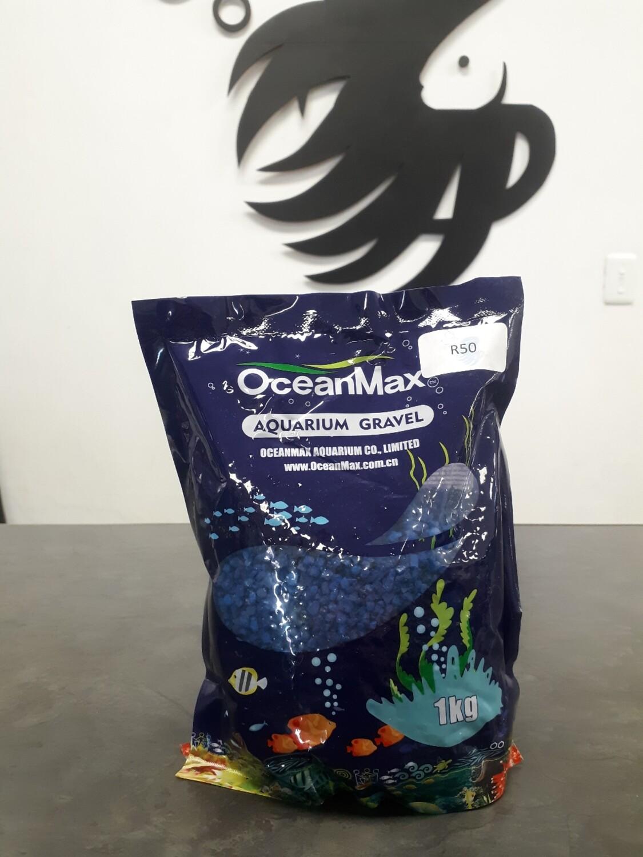 Dark Blue Aquarium Gravel (1kg)