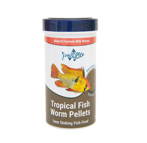FishScience Tropical Fish Worm Pellets (55g)
