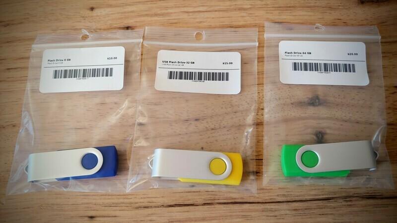USB Swivel Flash Drive - 64GB USB 2.0 (random color)