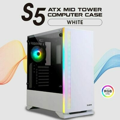 Zalman S5 White Mid Tower Gaming PC Case