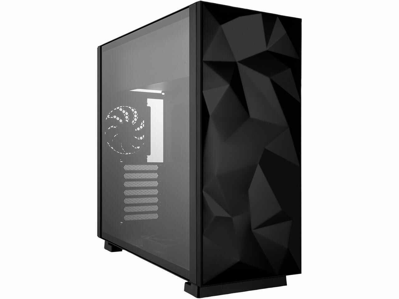 Rosewill Prism S Lite (Black) - ATX Mid Tower Gaming PC Computer Case with 2 x 120mm Fans (Supports up to 6), 240mm AIO Support, EATX Support, Top Mount PSU & HDD/SSD, Tempered Glass & Black Steel