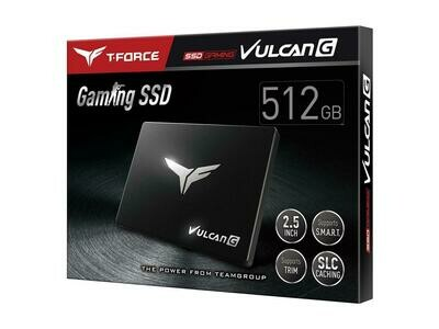 """Team Group T-FORCE VULCAN G 2.5"""" 512GB SATA III 3D NAND Internal Solid State Drive (SSD)"""
