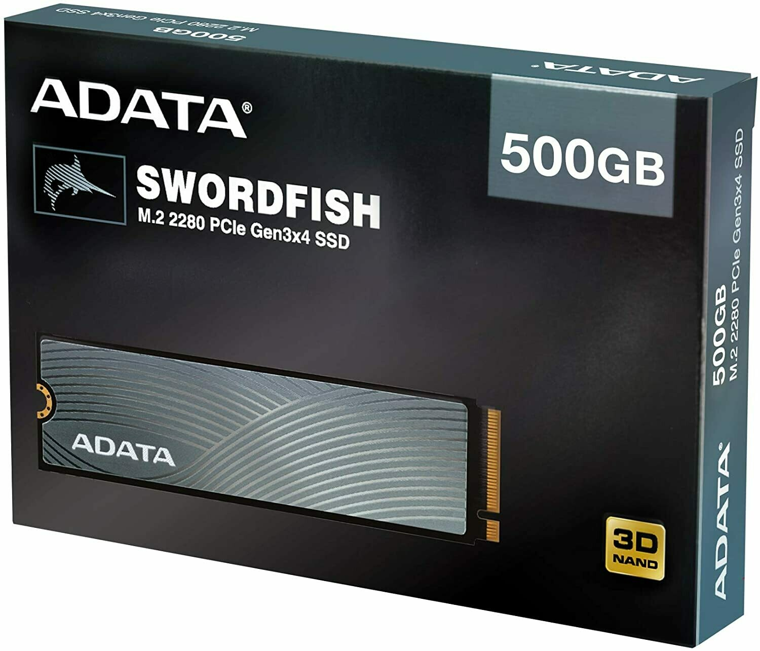 ADATA Swordfish 500GB 3D NAND PCIe Gen3x4 NVMe M.2 2280 Read/Write up to 1800/1200MB/s Internal SSD