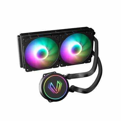 Vetroo Lurker V240 - CPU Liquid Cooler w/240mm Radiator / Black / 2x 120mm ARGB PWM fans / Compatible with Intel LGA 1366/1156/1155/1200/1151/1150/775 & AMD AM4/AM3+/AM2+/FM2+