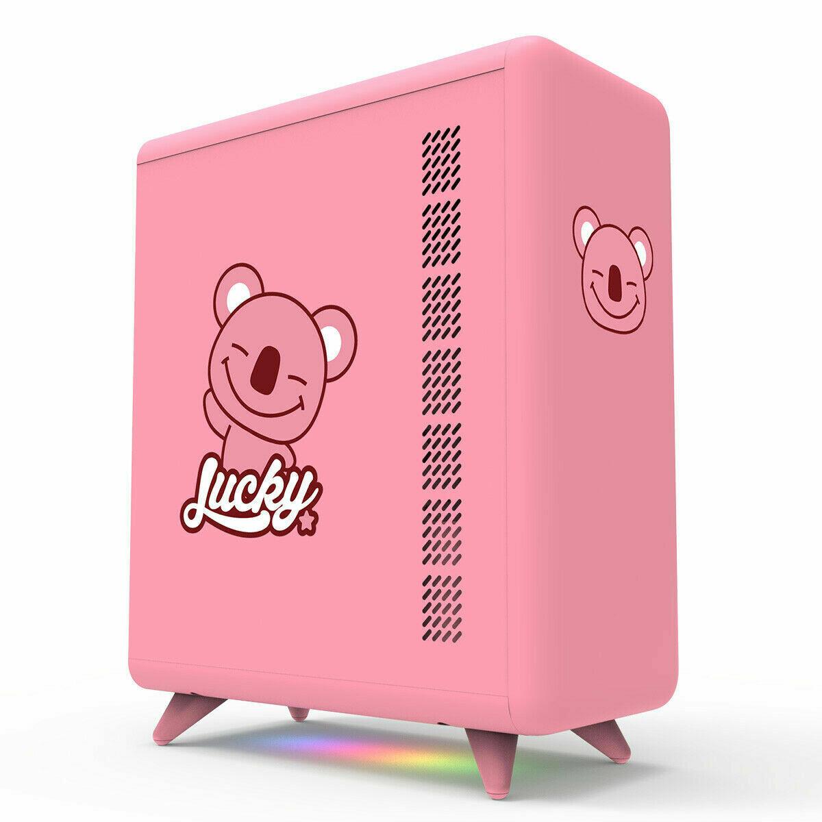 Golden Field Q3056-P Micro-ATX/Mini-ITX Smart ARGB PC Case - Pink