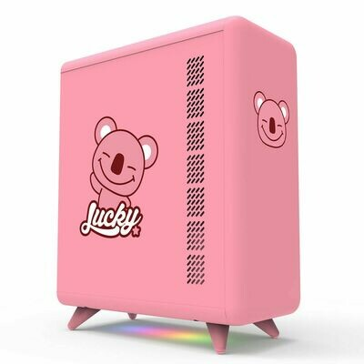 Golden Field Q3056-P Micro-ATX/Mini-ITX Smart ARGB PC Case - Pink