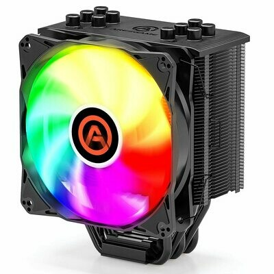 ARESGAME River 5 ARGB CPU Cooler with 5 Direct Contact Heatpipes - Air Cooler for Intel/AMD with 120mm SYNC ARGB PWM Fan (5V ARGB Header is Required on Motherboard)