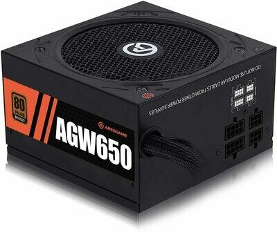 ARESGAME 650W Power Supply - Semi Modular 80+ Bronze PSU (AGW650)