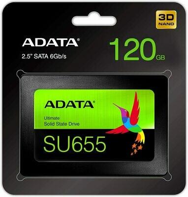 """ADATA SU655 120GB 3D NAND 2.5"""" SATA III Internal SSD"""