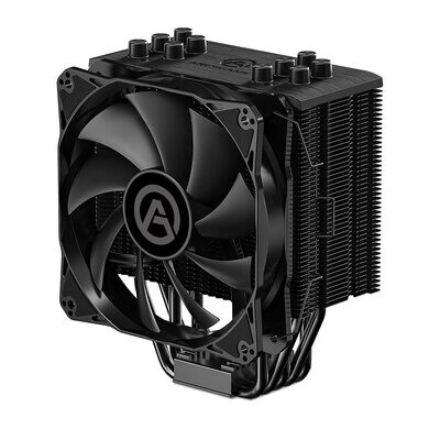 ARESGAME Black 5 CPU Cooler with 5 Direct Contact Heatpipes - Air Cooler for Intel/AMD with 120mm PWM Fan