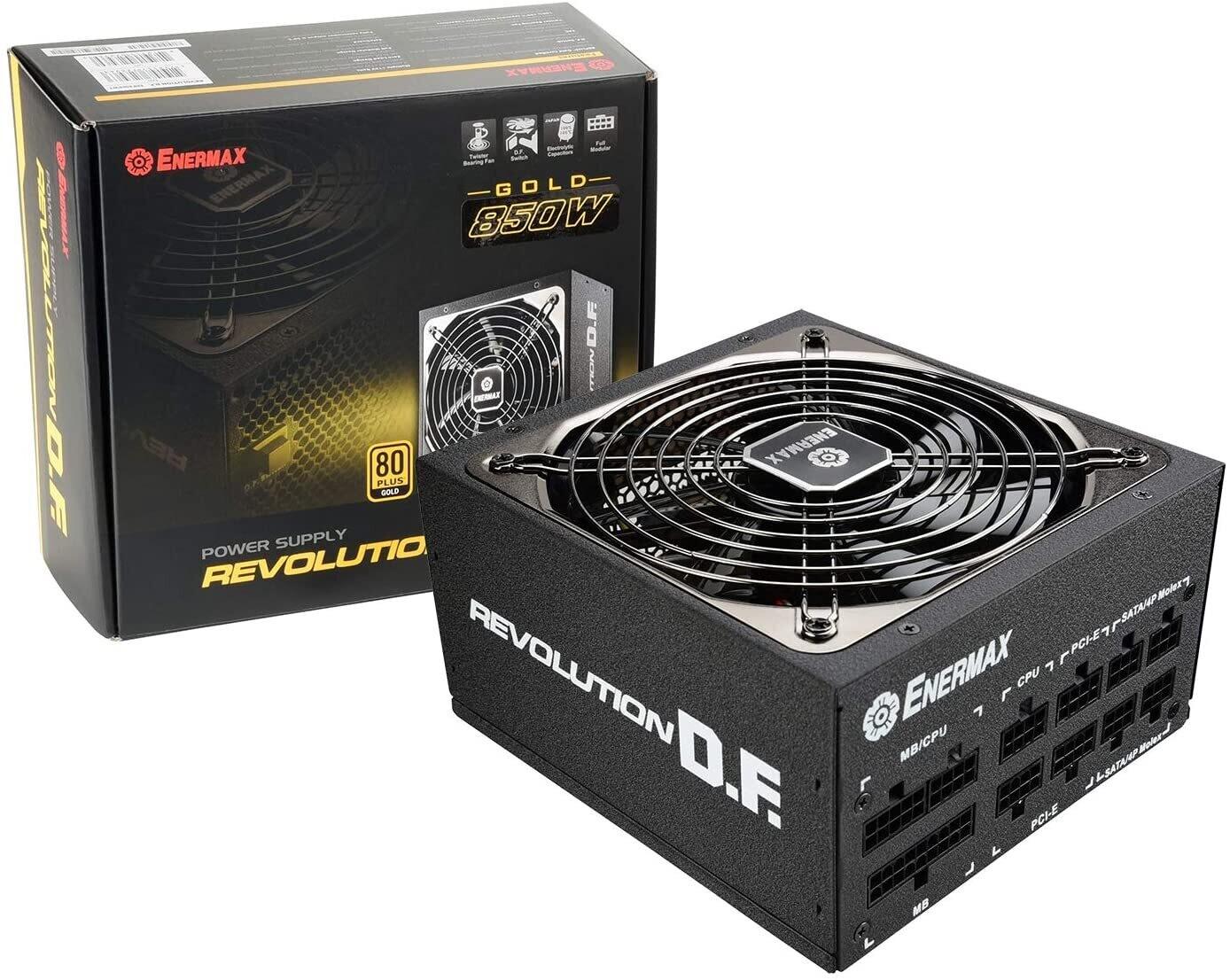Enermax Revolution DF ERF850EWT 80+ Gold 850W, Full-Modular Power Supply - 7 Year Warranty - *Online-only price!*