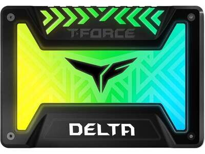 """Team Group T-FORCE DELTA RGB SSD 2.5"""" 500GB SATA III Internal RGB Solid State Drive (For MB with 5V/3-pin ARGB Header)"""