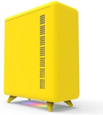 Golden Field Q3056-Y Micro-ATX/Mini-ITX Smart ARGB PC Case - Yellow