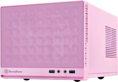 SilverStone Technology Ultra Small Form Factor Computer Case Mini-ITX in Pink - SG13P
