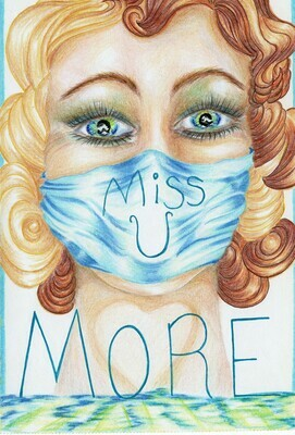 GIRL POWER  Miss U More (Hand drawn greeting cards.)