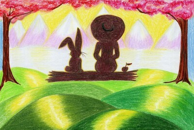 GIRL POWER  Some Bunny's Always Watching Over You.  (Hand drawn greeting cards.)