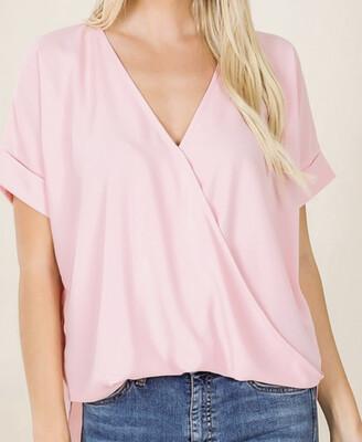 Dusty Pink Layered Shirt 2x