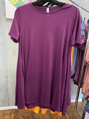 Short Dress Eggplant Lg