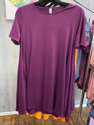 Short Dress Eggplant Sm
