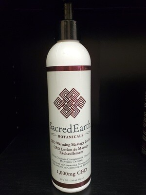 Sacred Earth Warming Lotion with CBD