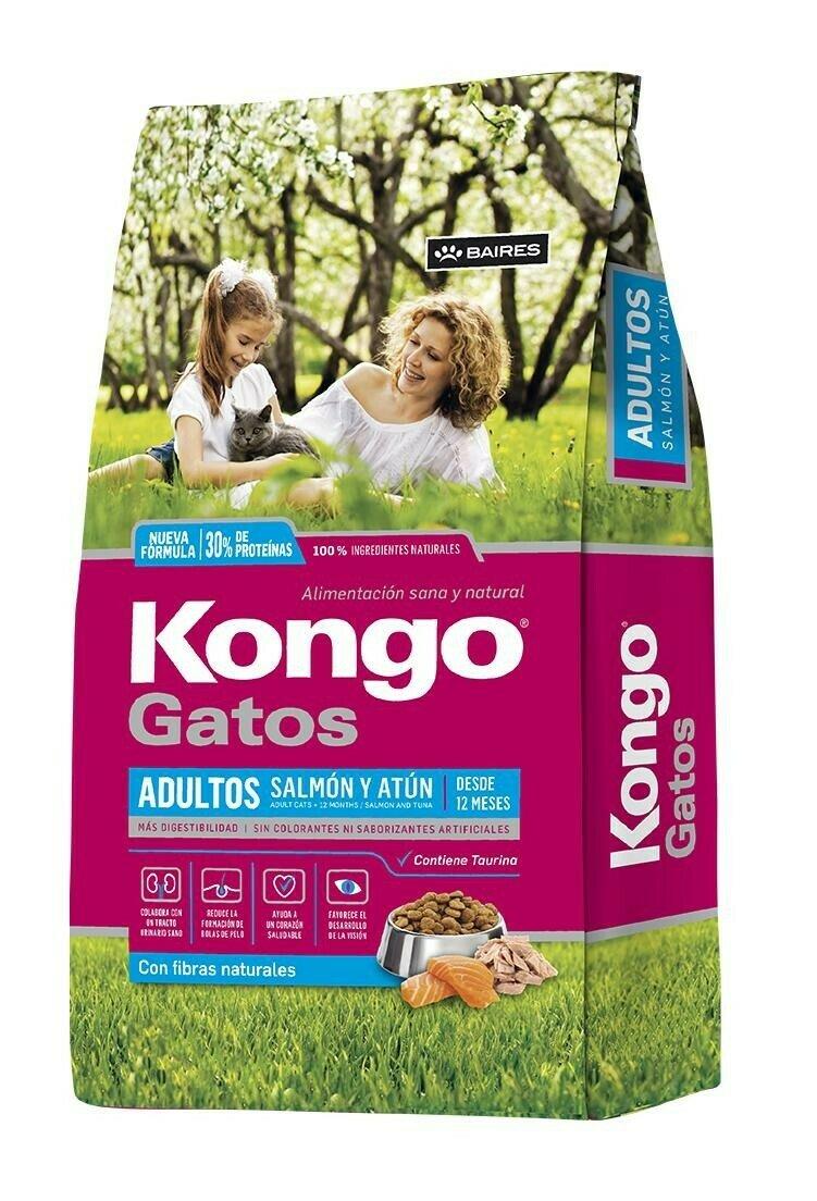 Kongo Gourmet Salmon y Atun 8Kg  Gatos Adultos