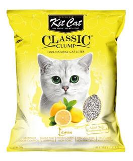 Arena Sanitaria KitCat Classic Limon 7 Kg