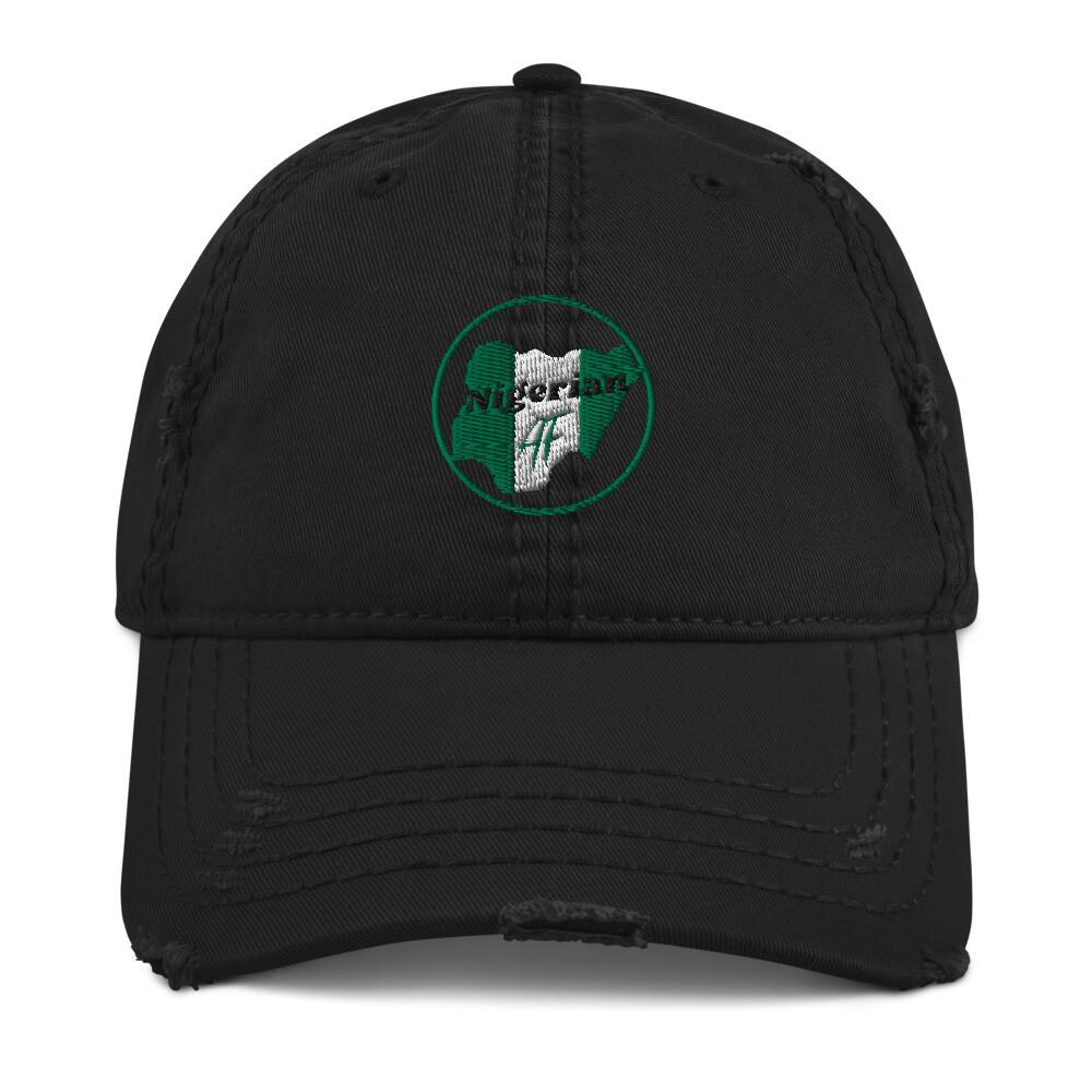 Nigerian Pride Distressed Hat