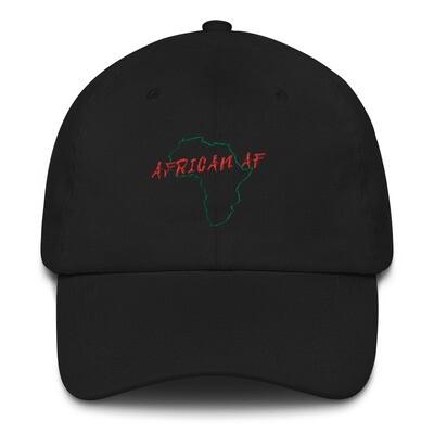 African AF Hat Red on Green