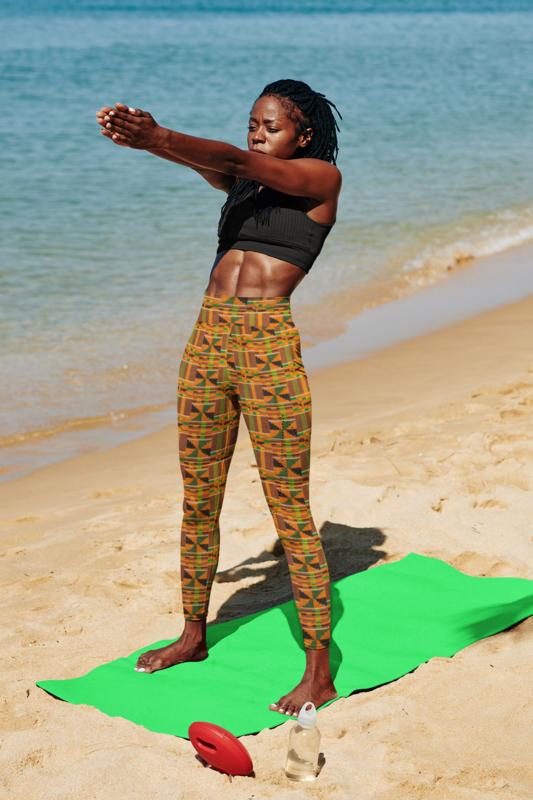 Akua Kente High Waist Leggings : African Print Leggings