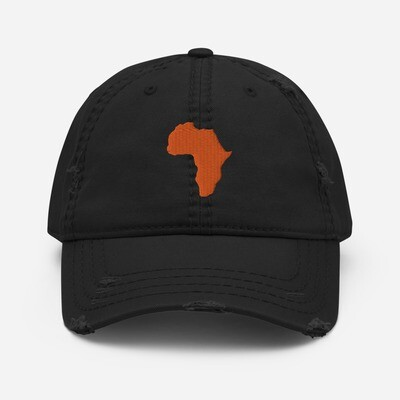 Africa Distressed  Hat