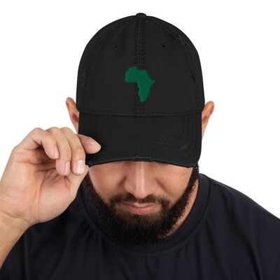 Green Africa Distressed Hat