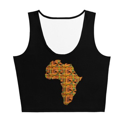 Akua Kente Africa Gym Crop Tank