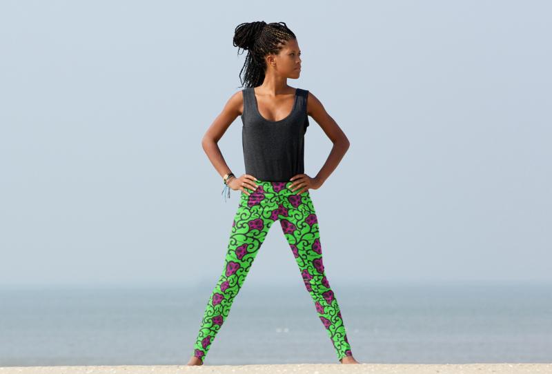 Amara Ankara High Waist Leggings : African Print Leggings
