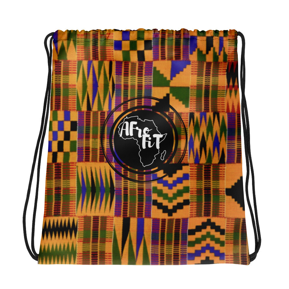 Kente African Print Drawstring Gym Bag