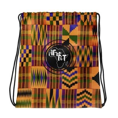 Kente African Print Drawstring Gym Bag