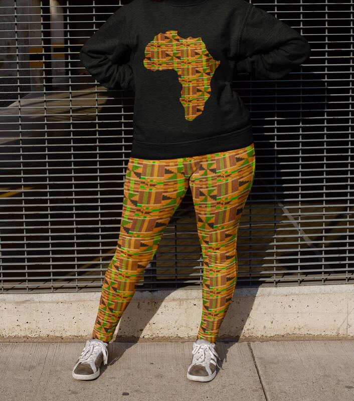 Akua Kente Plus Size Leggings 2XL-6XL : African Print Leggings