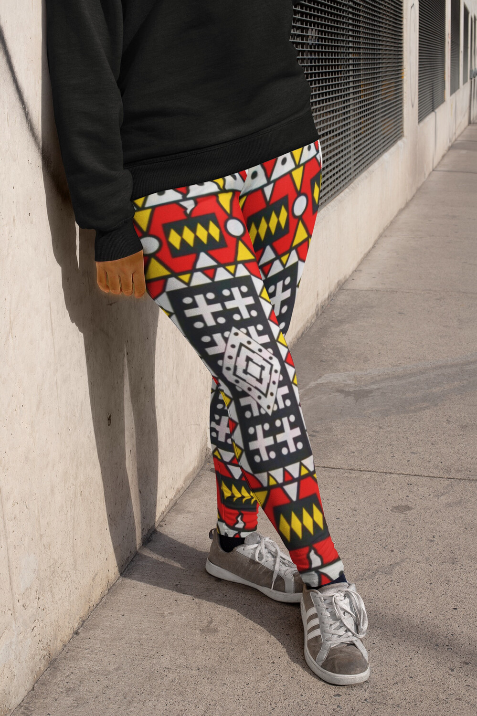 Samakaka African Print Plus Size Leggings 2XL-6XL : High Waist